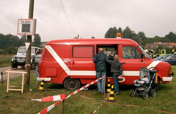 Soundmobil beim Seifenkistenrennen in Langenreichen, September 2008