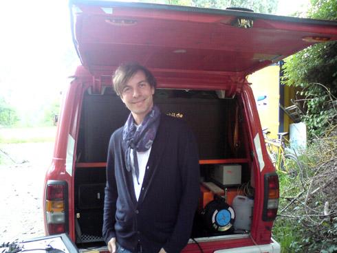 Soundmobil an der Kulperhütte, Juni 2010, DJ Tobias Thomas